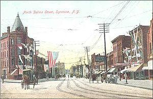 Northside, Syracuse - North Salina Street on city's Northside, c.1900