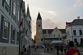 Veszprém - The Holy Trinity Square behind Veszprém Cathedral in the Castle Hill