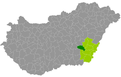 magyarország térkép szarvas Szarvasi járás – Wikipédia magyarország térkép szarvas