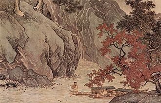 Ming dynasty painting - A Fisher in Autumn, by Tang Yin, 1523