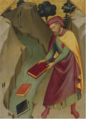 THE MAGUS HERMOGENES CASTING HIS MAGIC BOOKS INTO THE WATER.PNG