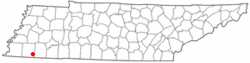 Location of La Grange, Tennessee