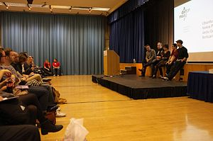 Dalton Maag - Dalton Maag staff speaking at the TYPO London conference in 2011.