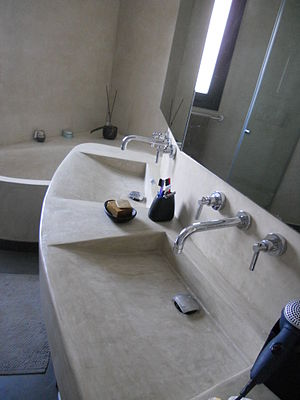 Tadelakt - Modern bath, sinks, and walls made of tadelakt