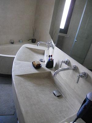 Tadelakt - Modern bath, sinks, and walls made of tadelakt