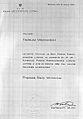 Tadeusz Mazowiecki Akt powołania na stanowisko Prezesa Rady Ministrów 24 sierpnia 1989.jpg