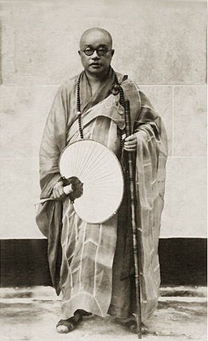 Taixu - Taixu wearing his traditional kāṣāya robes.