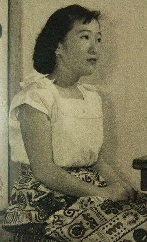 Kazue Takahashi - Kazue Takahashi in 1952