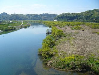 Takahashi River - Takahashi River near Kiyone Station in Okayama Prefecture