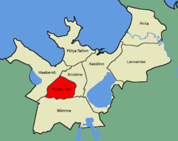 Location of Mustamäe in Tallinn.