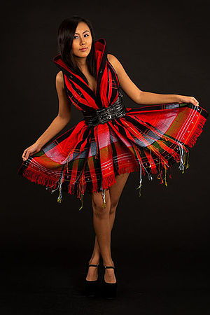 Tangkhul Naga - Tangkhul Naga girl in a modern adaptation of the traditional dress