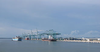 1999 in Malaysia - The port of Tanjung Pelepas, Malaysia.