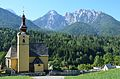 Tarvisio Fusine in Valromana Parish church Saint Leonard 17082013 044.jpg