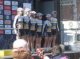Het team in de Waalse Pijl 2016