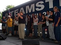 The Teamsters labor union gathering at YearlyK...