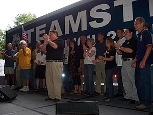 International Brotherhood of Teamsters - A Teamsters gathering at the YearlyKos 2007 convention