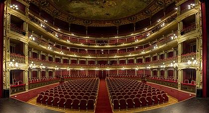 Interiér Teatro de Romea, Murcia, Španělsko