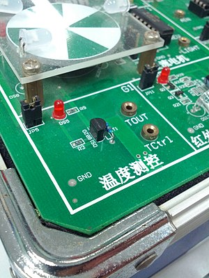 Temperature control - Temperature measuring and controlling module for microcontroller experiment