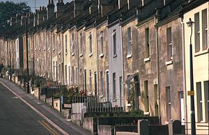 Terraced houses in Bath/ UK, Brooklyn Rd.