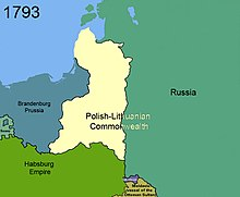 2nd partition of Poland in 1793