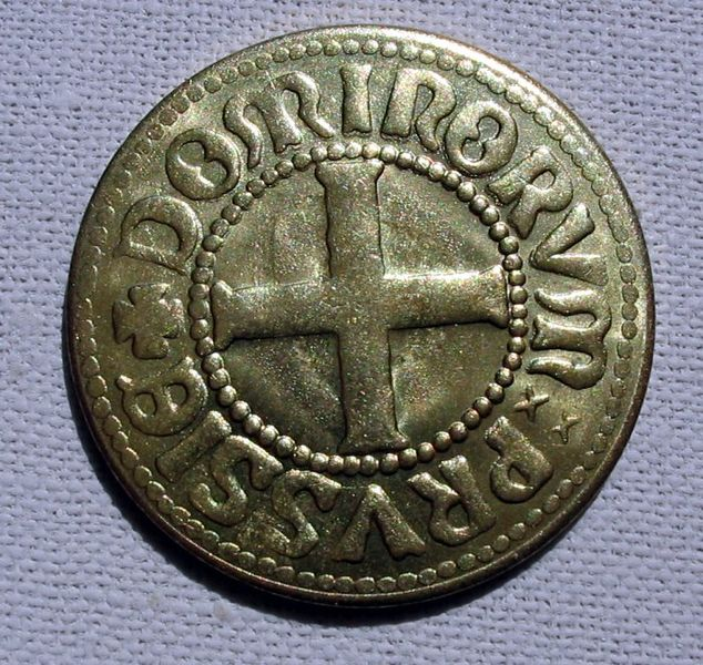 Datei:Teutonic Order Coin B ubt.jpeg