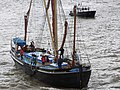 Thames barge parade - through Tower Bridge into the Pool - Gladys 6685.JPG