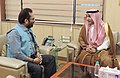 The Ambassador of Saudi Arabia to India, Dr. Mohammed Alsati meeting the Minister of State for Minority Affairs (Independent Charge) and Parliamentary Affairs, Shri Mukhtar Abbas Naqvi, in New Delhi on August 16, 2017.jpg