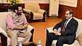 The Ambassador of the Kingdom of Saudi Arabia to India, Dr. Saud Mohammed Al-Sati meeting the Minister of State for Minority Affairs (Independent Charge) and Parliamentary Affairs, Shri Mukhtar Abbas Naqvi, in New Delhi.jpg