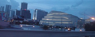 Adrienne Arsht Center for the Performing Arts - Sanford and Dolores Ziff Ballet Opera House view from I-395