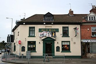 Pubs and inns in Grantham - Image: The Blue Bull pub in Grantham