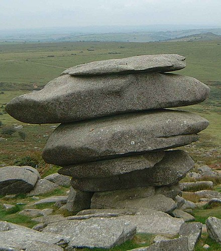 The Cheesewring, a granite tor The Cheesewring.jpg