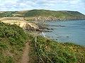 The Coastal Path towards Cadythew Rock and Hemmick Beach - geograph.org.uk - 223881.jpg