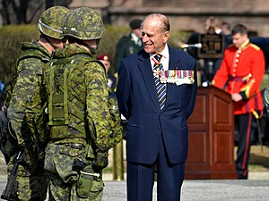 3rd Battalion, The Royal Canadian Regiment - The Duke of Edinburgh, Colonel-in-Chief of the Royal Canadian Regiment, presenting the 3rd Battalion with their Regimental Colours in April 2013