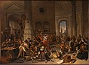 The Expulsion of the Money-Changers from the Temple by Jan Steen Museum De Lakenhal B 667.jpg
