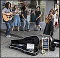 The Fergies singing in Queens St Mall Brisbane-1 (26970260536).jpg