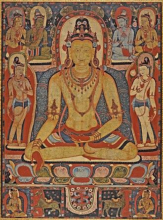 History of Asian art - Jina Buddha Ratnasambhava, Central Tibet, Kadampa Monastery, 1150–1225.