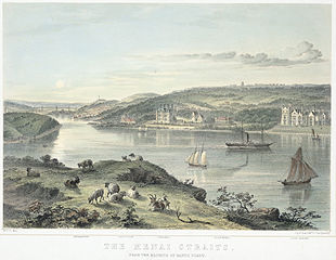 The Menai Straits, from the heights of Garth Point