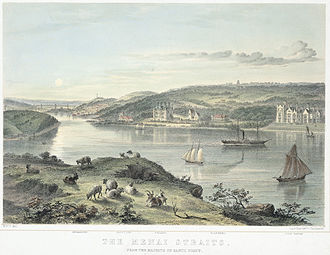 Menai Strait - The Menai Straits, painted 1860