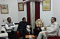 The Minister of State for Culture (Independent Charge), Tourism (Independent Charge) and Civil Aviation, Dr. Mahesh Sharma meeting the Chief Minister of Chhattisgarh.jpg