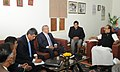 The Minister of State for Food Policy, Venezuela, Mr. Rafael Jose Coronado Patino calls on the Minister of State (Independent Charge) for Consumer Affairs, Food and Public Distribution, Professor K.V. Thomas, in New Delhi.jpg