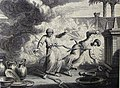 The Phillip Medhurst Picture Torah 527. Nadab and Abihu destroyed. Leviticus cap 10 vv 1-2. Dutch Bible.jpg
