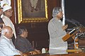 The President, Dr. A.P.J. Abdul Kalam addressing at the farewell function, in New Delhi on July 23, 2007.jpg