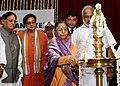 The President, Smt. Pratibha Devisingh Patil lighting of the lamp at the inauguration of the closing ceremony of PN Panicker Centenary Celebrations, at Kanakakkunnu Palace, Kerala on August 13, 2010.jpg