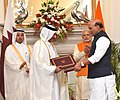 The Prime Minister, Shri Narendra Modi and the Prime Minister of Qatar, Sheikh Abdullah bin Nasser bin Khalifa Al Thani witnessing the exchange of agreements, at Hyderabad House, in New Delhi on December 03, 2016.jpg