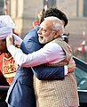 The Prime Minister, Shri Narendra Modi welcomes the Prime Minister of Canada, Mr. Justin Trudeau, at the Ceremonial Reception, at Rashtrapati Bhavan, in New Delhi on February 23, 2018.jpg