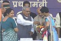 "The Prime Minister Shri Atal Bihari Vajpayee administering the Polio Drops to a child during the "" Pulse Polio Day "" in Lucknow on February 22, 2004.jpg"