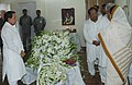 The Union Minister for Information & Broadcasting and Parliamentary Affairs, Shri Priyaranjan Dasmunsi paying tribute to the mortal remains of the former Prime Minister Shri Chandra Shekhar, in New Delhi on July 08, 2007.jpg