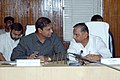 The Union Minister for Shipping, Road Transport & Highways, Shri T.R. Baalu with the Chief Minister of Uttar Pradesh, Shri Mulayam Singh Yadav at a review meeting on Road Sector Projects at Lucknow on August 07, 2006.jpg