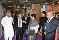 The Union Minister for Textiles, Dr. Kavuru Sambasiva Rao going round at the 4th Edition of Tex Trends India 2014, in New Delhi on January 20, 2014. The Secretary, Ministry of Textiles, Ms. Zohra Chatterji is also seen.jpg