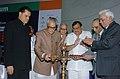 The Vice President, Shri Bhairon Singh Shekhawat lighting the lamp to mark inauguration of IIM's Diamond Jubilee Celebrations in New Delhi on September 11, 2006.jpg